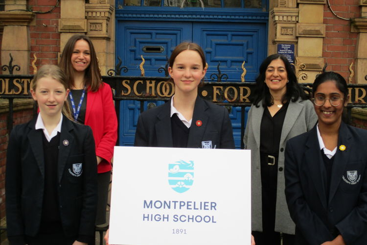 Montpelier High School students proudly display the school's new emblem