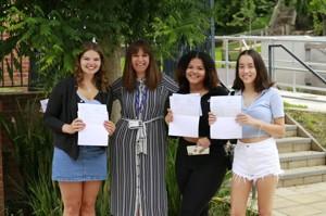 Photo 6   Isla Jordan; Hope James; Principal, Kerry McCullagh; and Isabel Joicey
